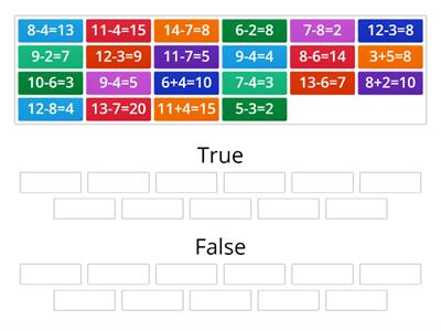 Addition and Subtraction Sort - True or False?