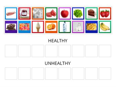 HEALTHY LIVING (FOOD SORTING)