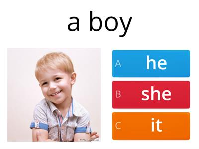 Personal pronouns (he,she,it)