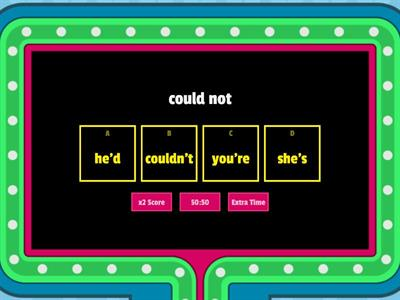 CONTRACTION GAME SHOW
