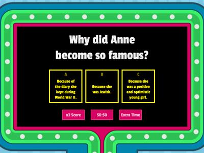 Anne Frank: 10 questions