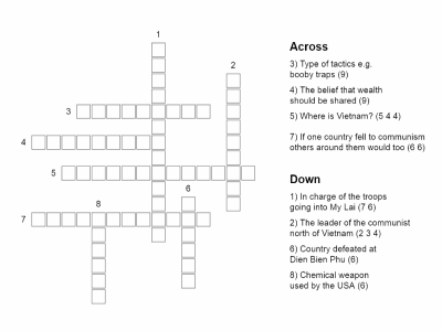 Vietnam War crossword