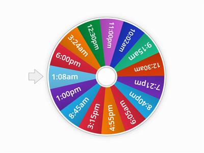 12 hour time wheel