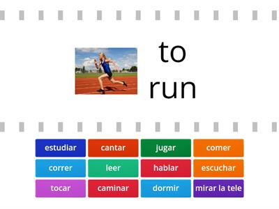 Copy of Basic Spanish Verbs: Swipe to see translation