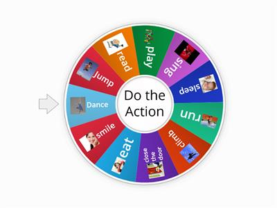 Action verbs wheel