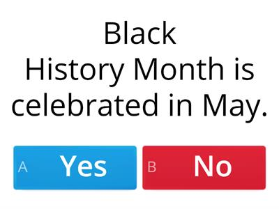 What is Black History Month Quiz