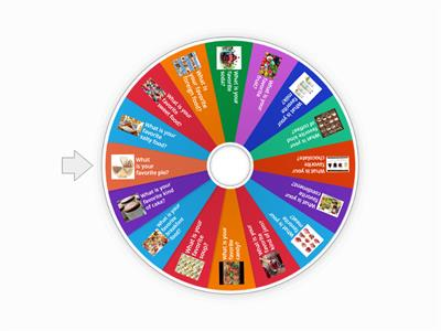 What's your favorite.....? Food Spin Wheel