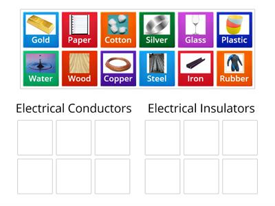 Sorting Conductors and Insulators