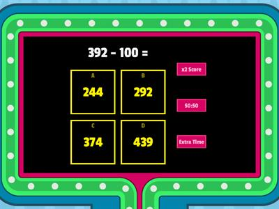 Take Away Tuesday - Subtraction with 3 digit numbers