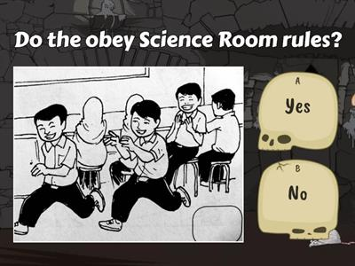 Science Room rules