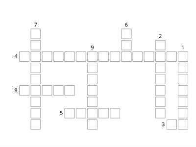 School Subjects crossword