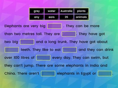 Elephants AS2 WB Unit 1.7