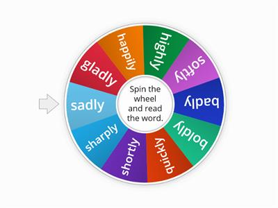 Suffix 'ly' Spin and Read