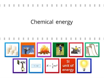 Choose the correct energy type based on the pictures