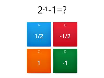 Mental Math Quiz #1