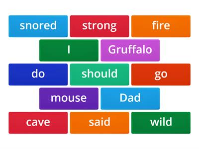Gruffalo's child rhyming words
