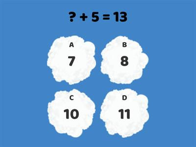 Cloud Math - Addition Missing Partners