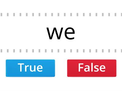 Open Syllable True or False