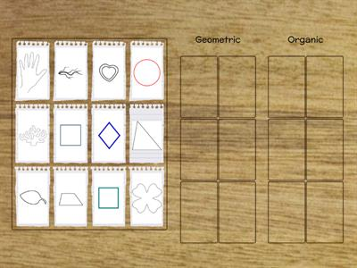 Sort shapes into correct categories
