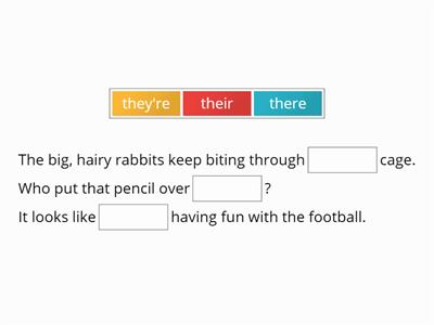 Homophone 'there' sorter