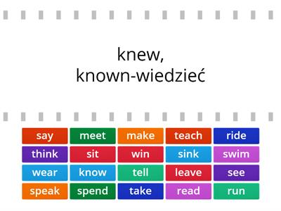 Irregular verbs kl. 6 know- win