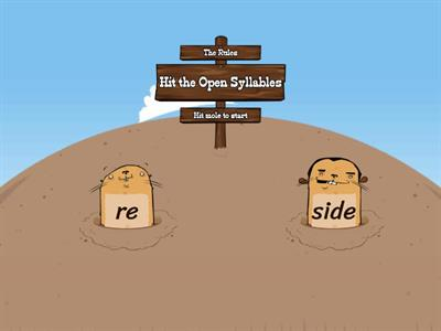 Open Closed Syllables