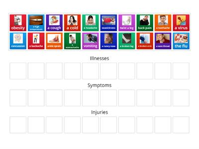 Match - Illnesses, Injuries and Symptoms