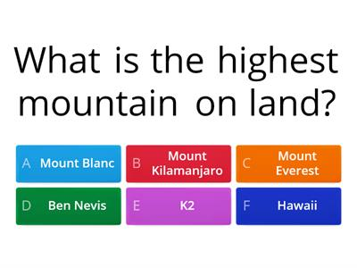 mountains quiz