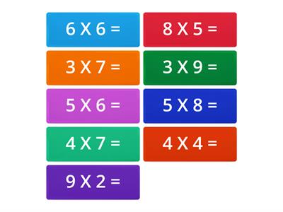 Flip tiles Multiplication