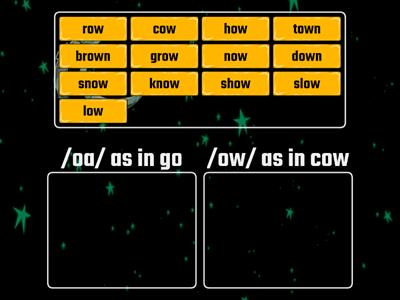 Sort the ow Spelling