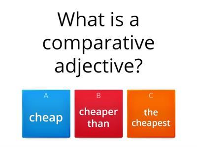 Kid's Box 4 Quiz(comparative/superlative)