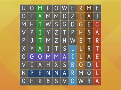 Cerca le parole - Wordsearch
