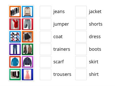 Motivate 01 - WB - Unit 09 - Vocabulary 01 - Clothes and accessories page 85 ex 01