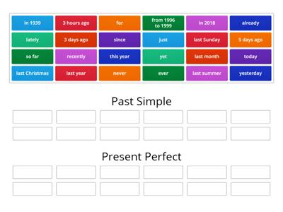 KEY WORDS - Present Perfect and Past Simple