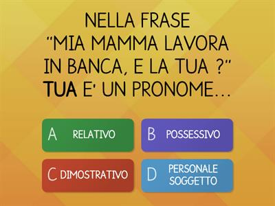 QUIZ SUI PRONOMI