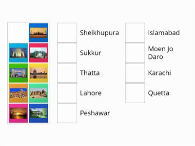 Pakistani Cities Matchup Activity