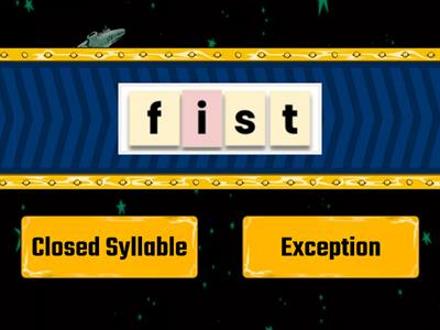 2.3 Closed syllable vs. exception