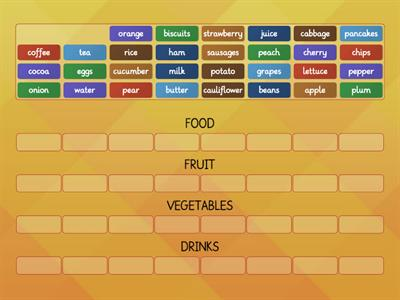 Food categories (Dip in 4)