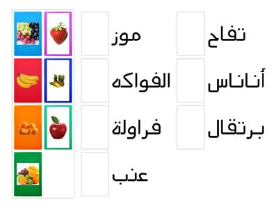 Fruits in Arabic 2/Activity