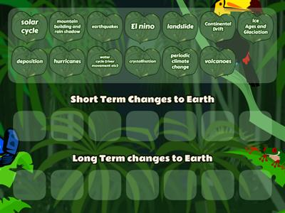 Short and Long Term Changes to Earth