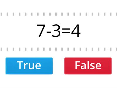 Subtraction True or False?