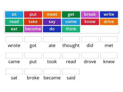 Speak out irregular verbs