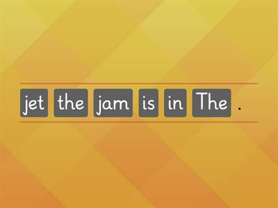 the jet is in the jam.