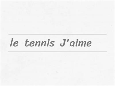 Les sports (sentences: likes, dislikes, opinions and 'to play')