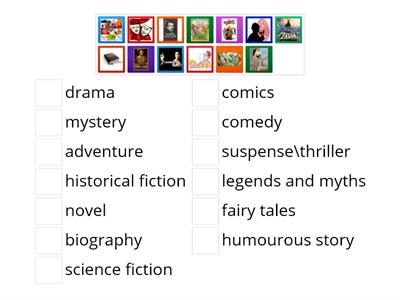 Spotlight 7 Unit 2a Literary genres