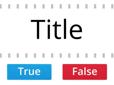 Features of a discussion text True or False