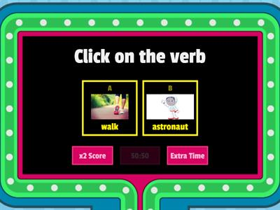 Man on the Moon verbs