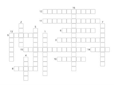 Crossword revision 1-4