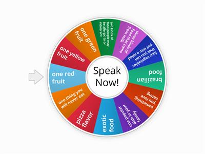 Food Speaking Wheel