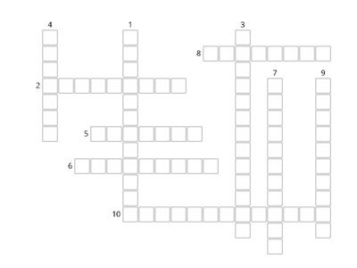 Emotion Crossword puzzle
